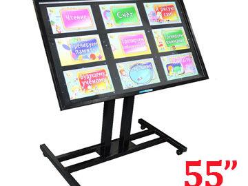 интерактивная панель на стойке