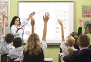 проектор на уроке в школе